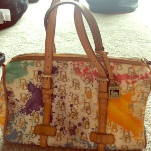 Large Dooney & Bourke Paint Splatter Purse
